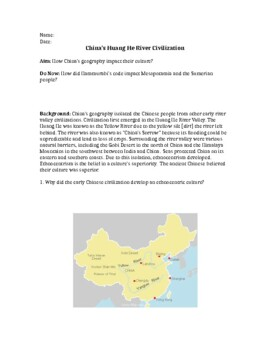 Ancient Chinese Civilization (Yellow River Valley)