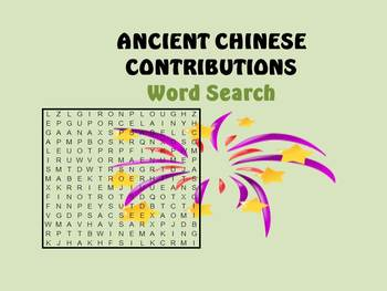 Ancient Chinese Contributions