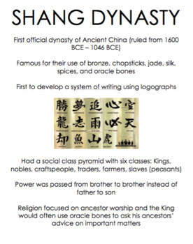 Ancient Chinese Dynasties: A Stations Activity
