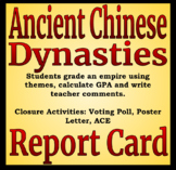 Ancient Chinese Dynasties Report Card Differentiated Readi