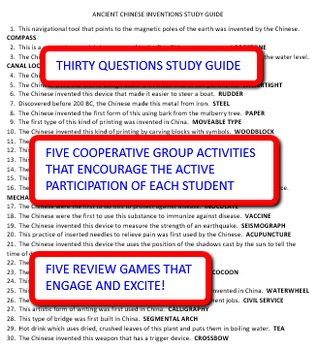 Ancient Chinese Inventions: Study Guide and Activity Pack