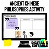 Ancient Chinese Philosophies Confucianism, Legalism, Daoism Activity