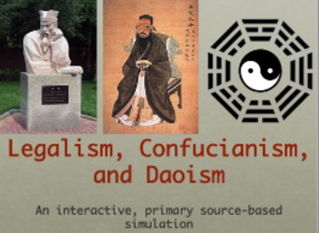 philosophical traditions of confucianism daoism legalism essay Confucianism, daoism, and legalism essay variety of methods – confucianism, daoism, and legalism to name a few each philosophy had its own set of rules of how people should act both in public and privately the overall goal of each philosophy was to set a standard of acceptable living that would ensure harmony and success for the.