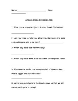 Ancient Civilization Domain Assessment