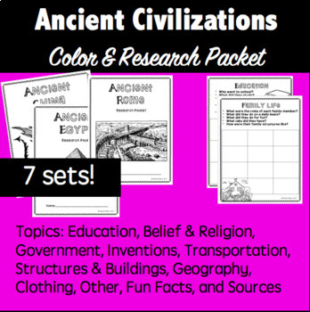 Ancient Civilization- Research Packet