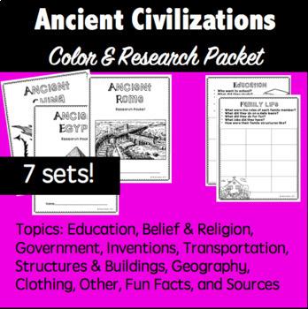 Ancient Civilization- Research Packet