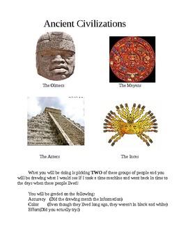 Ancient Civilization Drawings