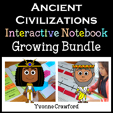 Ancient Civilization Interactive Notebook Growing Bundle with Scaffolded Notes