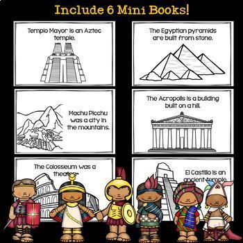 Ancient Civilization Mini Books Bundle for Early Readers - Six Civilizations