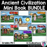 Ancient Civilization Mini Books Bundle for Early Readers -