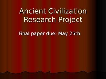 Ancient Civilization Research Project ppt.