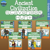 Ancient Civilization Scavenger Hunt Bundle