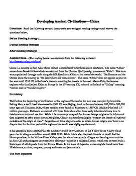 Ancient Civilization Secondary Source Reading China