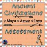 Ancient Civilization Test and Study Guide: Maya, Aztec, Inca