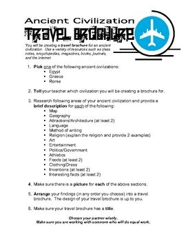 Ancient Civilization Travel Brochure