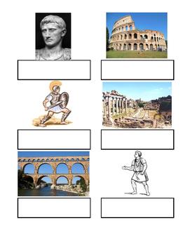 Ancient Civilization Vocabulary- File Folder Games