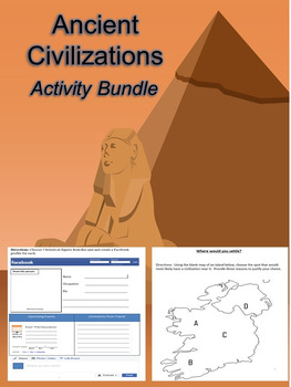 Egypt and other Ancient Civilizations Activity Bundle - 13 Lessons in 1!