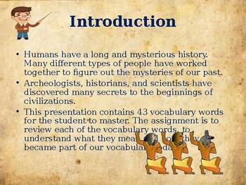Ancient Civilizations - Ancient Egypt - Vocabulary Exercise