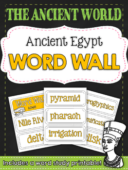 Ancient Civilizations: Ancient Egypt Word Wall and Vocabul