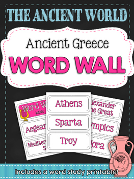 Ancient Civilizations: Ancient Greece Word Wall and Vocabulary Builder