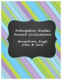 Ancient Civilizations - Anticipation Guide