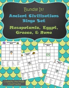 Ancient Civilizations BINGO (Bundled): Mesopotamia, Egypt, Greece, Rome