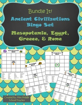 Ancient Civilizations BINGO (Bundled): Mesopotamia, Egypt,