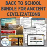 Ancient Civilizations Back to School Bundle