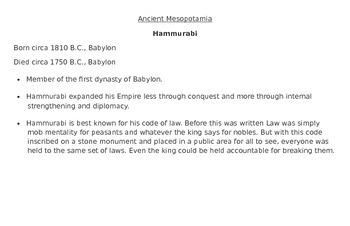 Ancient Civilizations Biographies