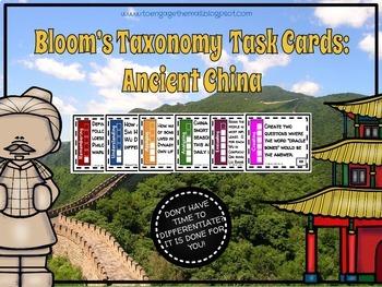 Ancient Civilizations Bloom's Taxonomy Task Card Bundle