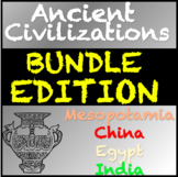 Ancient Civilizations Bundle: Mesopotamia, Egypt, India an