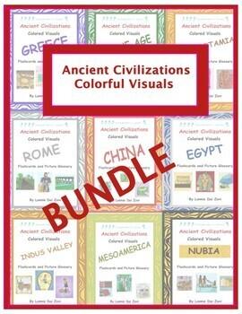 Ancient Civilizations Colorful Visuals Bundle