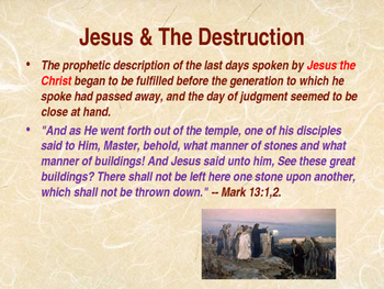 Ancient Civilizations - Destruction of Jerusalem - AD 70