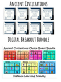 Ancient Civilizations Digital Choice Board and Digital Breakout Bundle