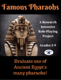 Ancient Egypt Pharaohs Role-Playing Research Project