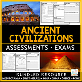 Ancient Civilizations Tests - Exams Bundle