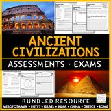 Ancient Civilizations Tests - Ancient History Exams Bundle