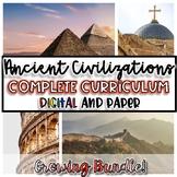 Ancient Civilizations FULL Year Curriculum {Digital AND Paper}