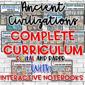 Ancient Civilizations FULL Year Curriculum WITH Interactiv