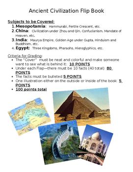 Ancient Civilizations Foldable