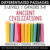 Ancient Civilizations BUNDLE: Differentiated Reading Passages