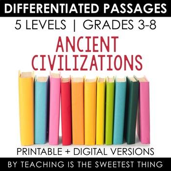Ancient Civilizations BUNDLE: Differentiated Reading Passages