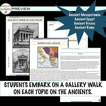 Ancient Civilizations Gallery Walk Bundle