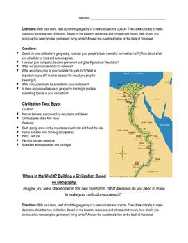 Ancient Civilizations: Geography Simulation/Activity