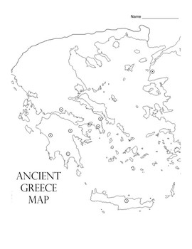 Ancient Civilizations Greece Map Activity By Scholl Math Tpt