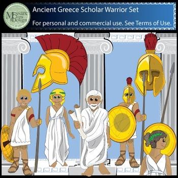 Ancient Civilizations - Greek Clip Art Set {Messare Clips