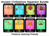 Distance Learning:  Ancient Civilizations Digital Hyperdoc Bundle!