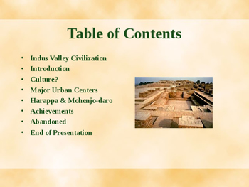 Ancient Civilizations - Idus Valley Civilization