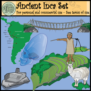 Ancient Civilizations - Incan Empire Clip Art Set {Messare Clips and Design}