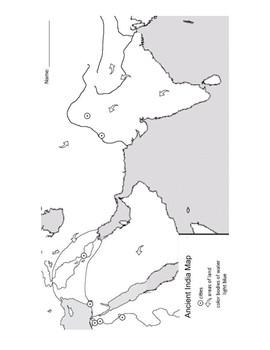 Ancient Civilizations: India Map Activity